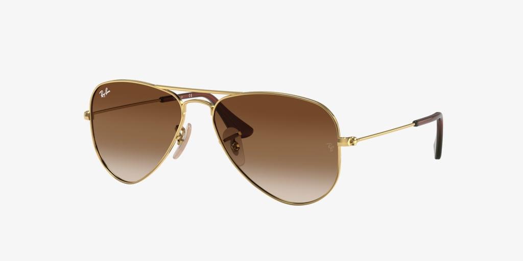 Ray-Ban Jr RJ9506S 50 JUNIOR AVIATOR Gold Sunglasses