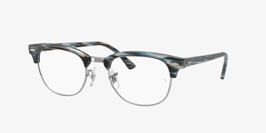 Ray-Ban RX5154 Blue/Grey Striped Eyeglasses