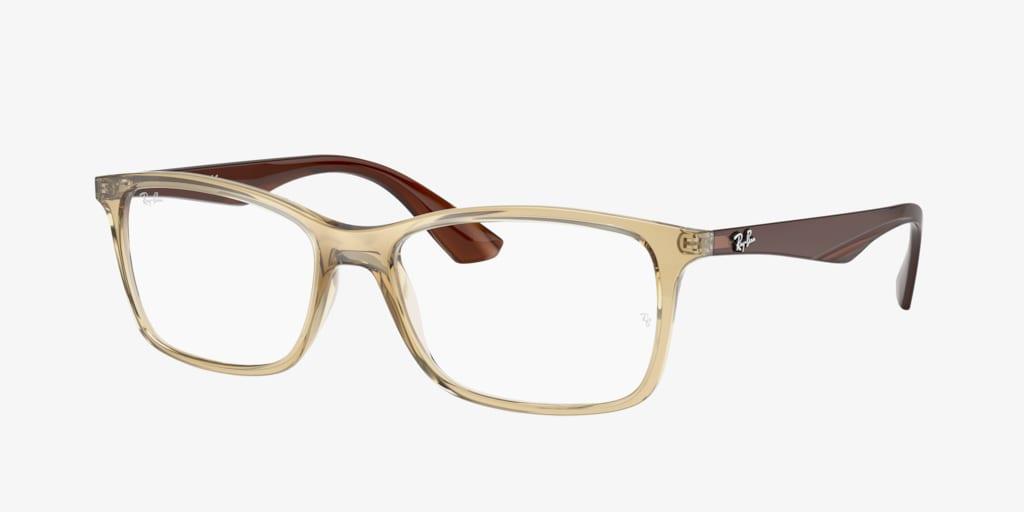 Ray-Ban RX7047 Transparent Beige Eyeglasses