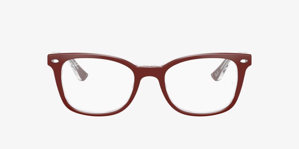 Ray-Ban RX5285 Bordeaux On Transparent Eyeglasses