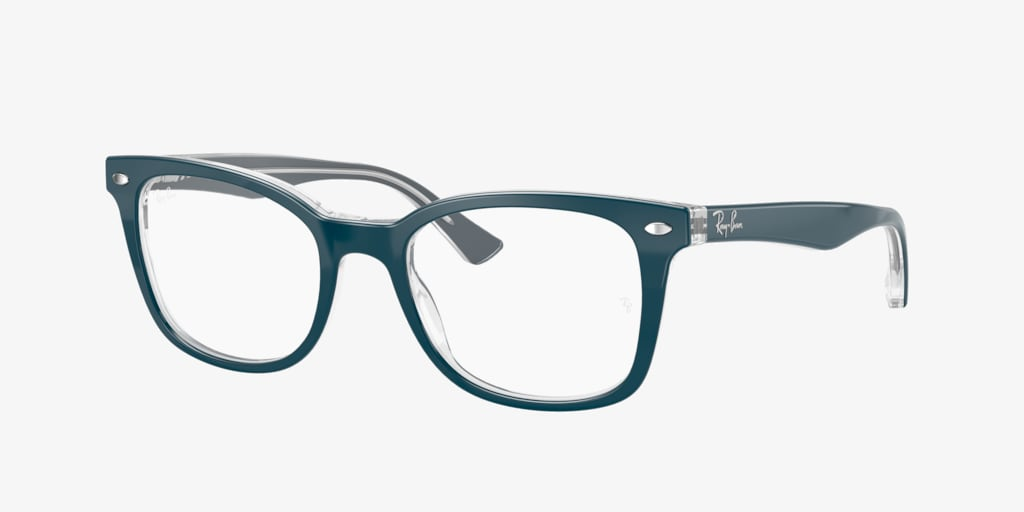 Ray-Ban RX5285 Turquoise On Transparent Eyeglasses