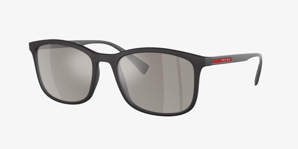 Prada Linea Rossa PS 01TS 56 LIFESTYLE Black Rubber Sunglasses
