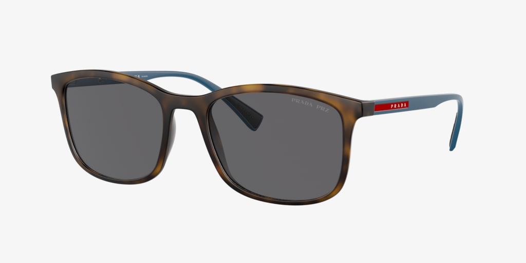 Prada Linea Rossa PS 01TS 56 LIFESTYLE Havana Rubber Sunglasses