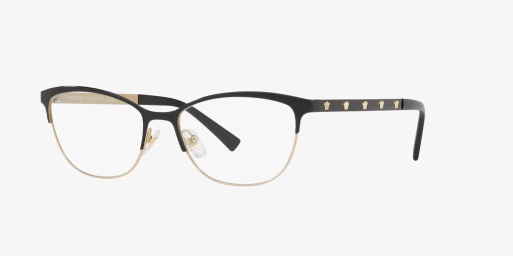 Versace VE1251 Black/Pale Gold Eyeglasses