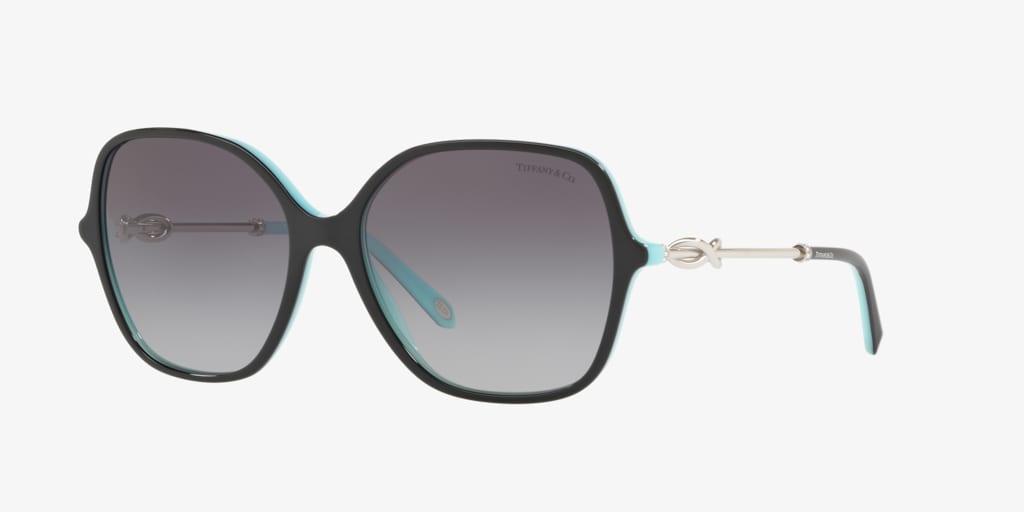Tiffany TF4145BF 57 Black on Tiffany Blue Sunglasses