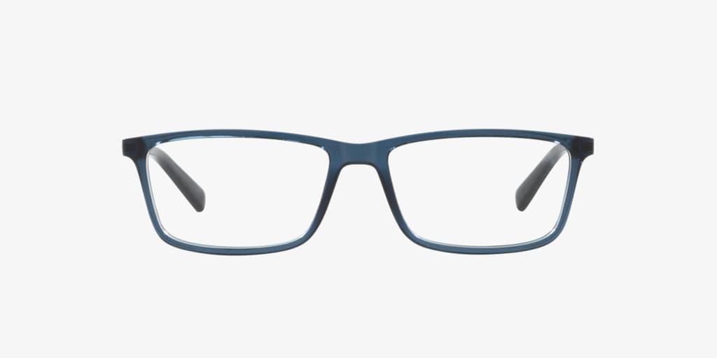 Armani Exchange AX3027 Shiny Transparent Blue Eyeglasses