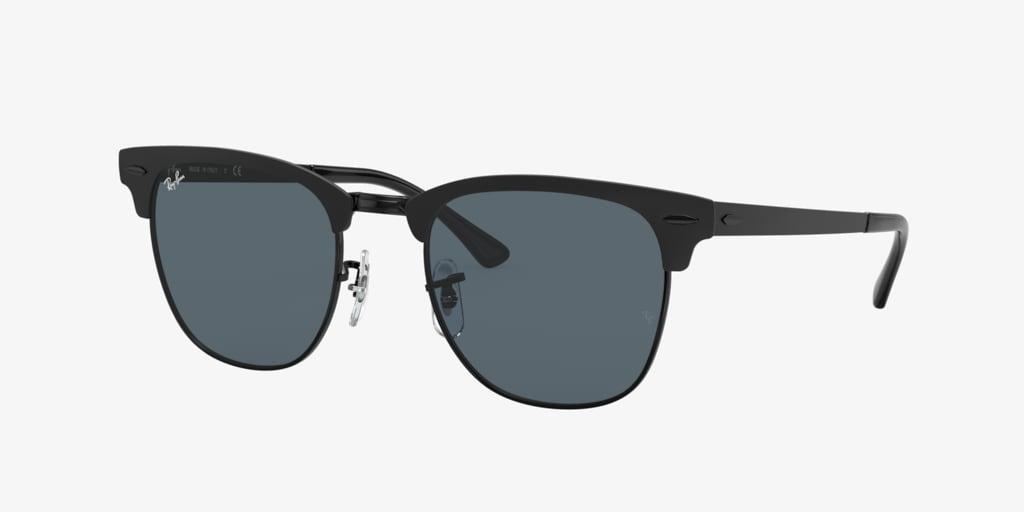 Ray-Ban RB3716 51 CLUBMASTER METAL Matte Black On Black Sunglasses
