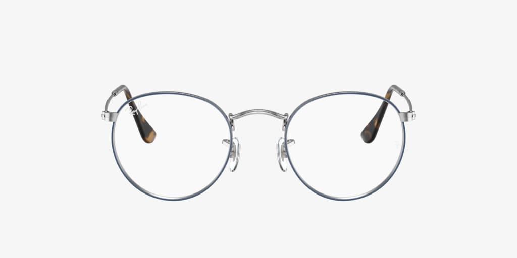 Ray-Ban RX3447V ROUND METAL Blue On Silver Eyeglasses
