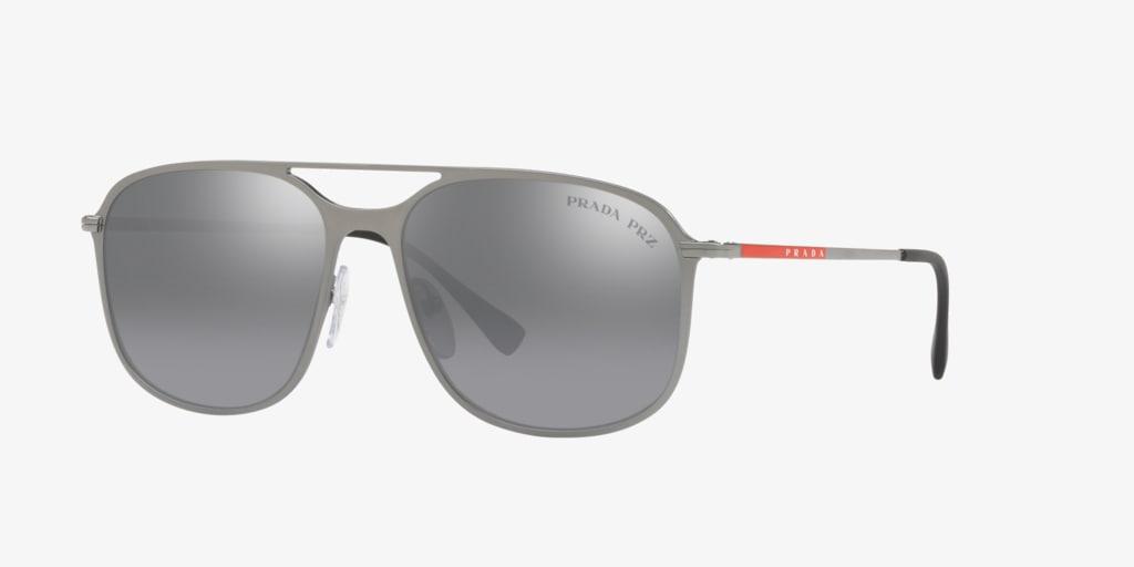 Prada Linea Rossa PS 53TS 56 LIFESTYLE Grey Sunglasses