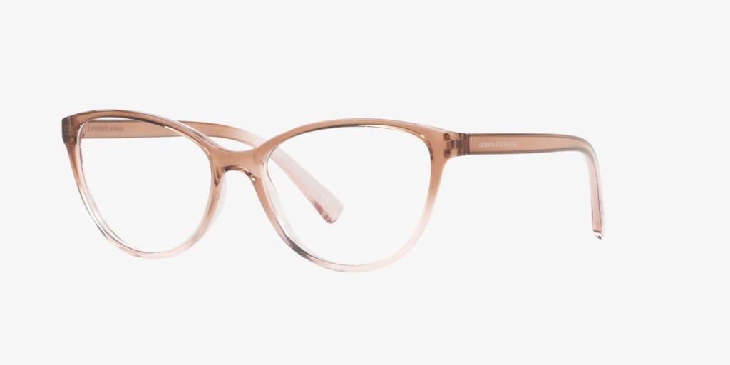 Armani Exchange AX3053 Shiny Pink/Crystal Eyeglasses