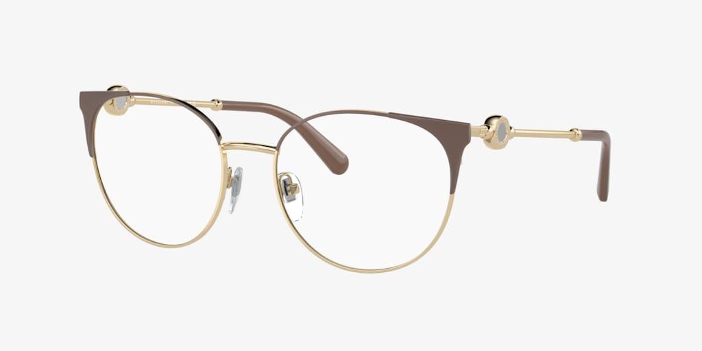 Bulgari BV2203 Brown On Pale Gold Eyeglasses
