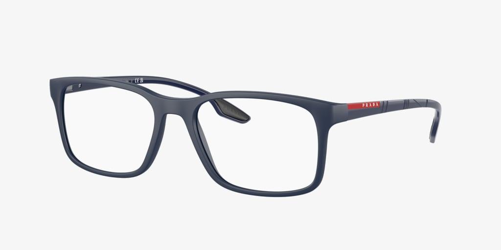Prada Linea Rossa PS 01LV LIFESTYLE Matte Blue Eyeglasses