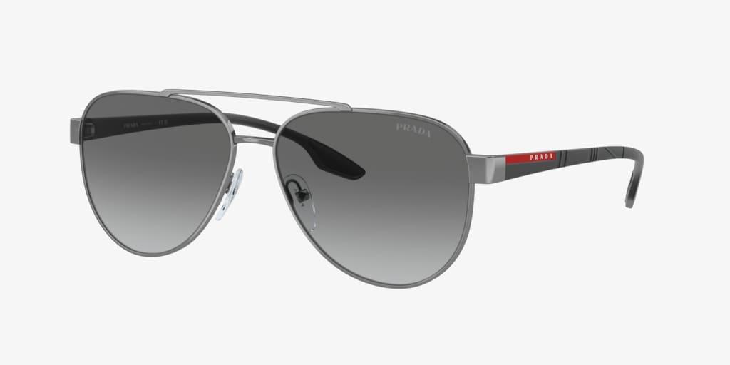 Prada Linea Rossa PS 54TS 58 LIFESTYLE Gunmetal Sunglasses