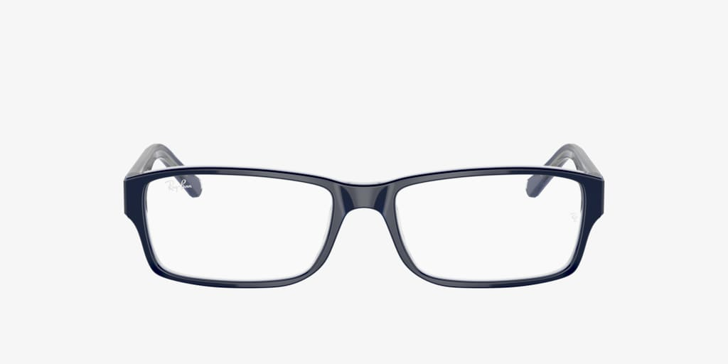 Ray-Ban RX5169 Blue On Transparent Grey Eyeglasses