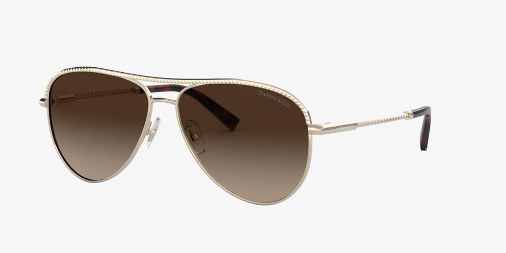 Tiffany TF3062 57 Pale Gold Sunglasses
