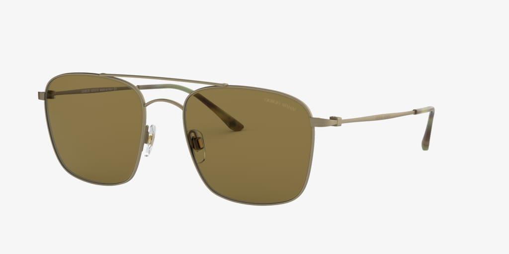 Giorgio Armani AR6080 55 Matte Brushed Gold Sunglasses