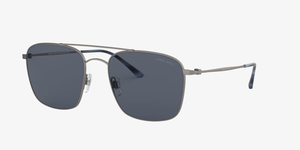 Giorgio Armani AR6080 55 Matte Gunmetal Sunglasses