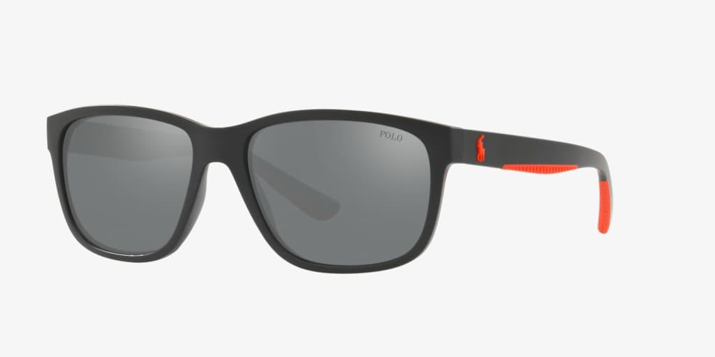Polo Ralph Lauren PH4142 57 Matte Black Sunglasses