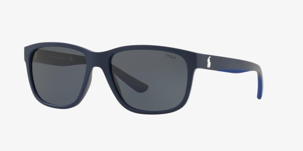 Polo Ralph Lauren PH4142 57 Matte Navy Blue Sunglasses