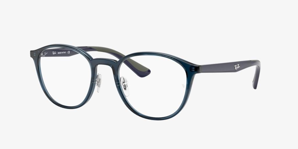 Ray-Ban RX7156 Transparent Dark Blue Eyeglasses