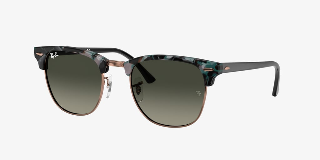 Ray-Ban RB3016 49 CLUBMASTER Spotted Grey/Green Sunglasses