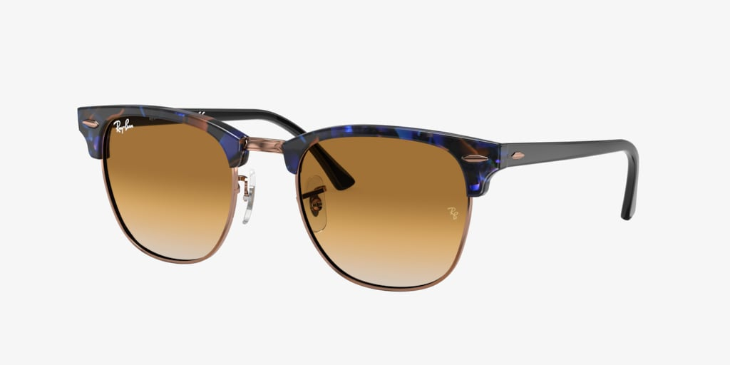 Ray-Ban RB3016 49 CLUBMASTER Spotted Brown/Blue Sunglasses