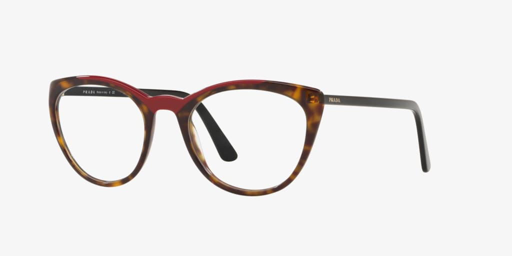 Prada PR 07VV Havana/Red Eyeglasses