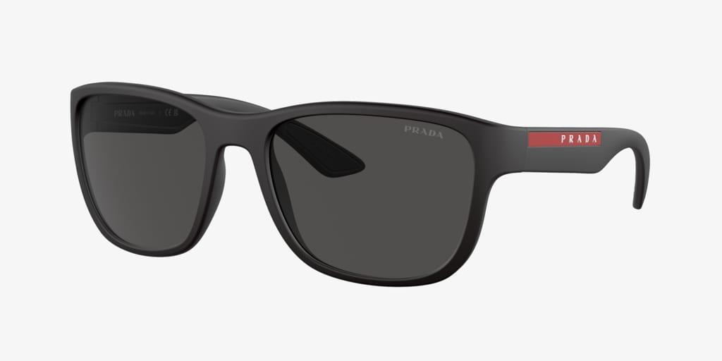 Prada Linea Rossa PS 01US 59 ACTIVE Black Rubber Sunglasses