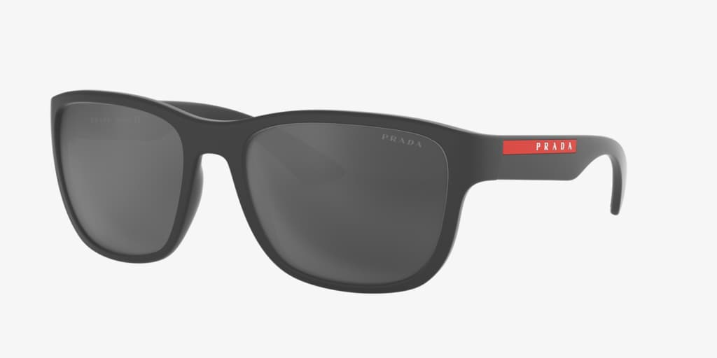 Prada Linea Rossa PS 01US 59 ACTIVE Grey Rubber Sunglasses