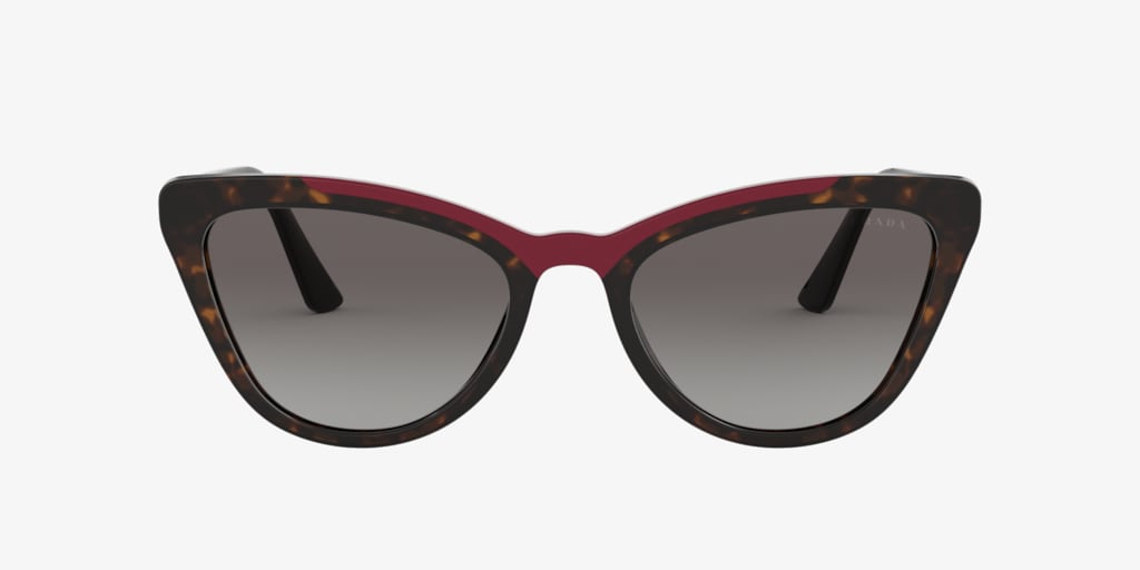 Prada PR 01VS 56 CATWALK Havana/Red Sunglasses