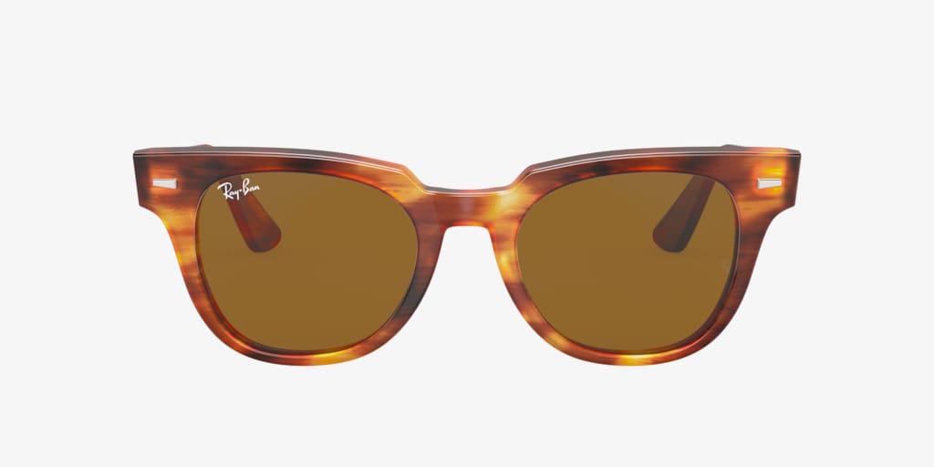 Ray-Ban RB2168 50 METEOR Striped Havana Sunglasses