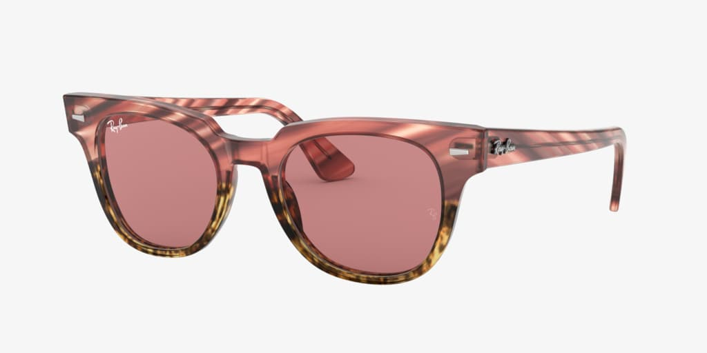 Ray-Ban RB2168 50 METEOR Pink Gradient Beige Striped Sunglasses