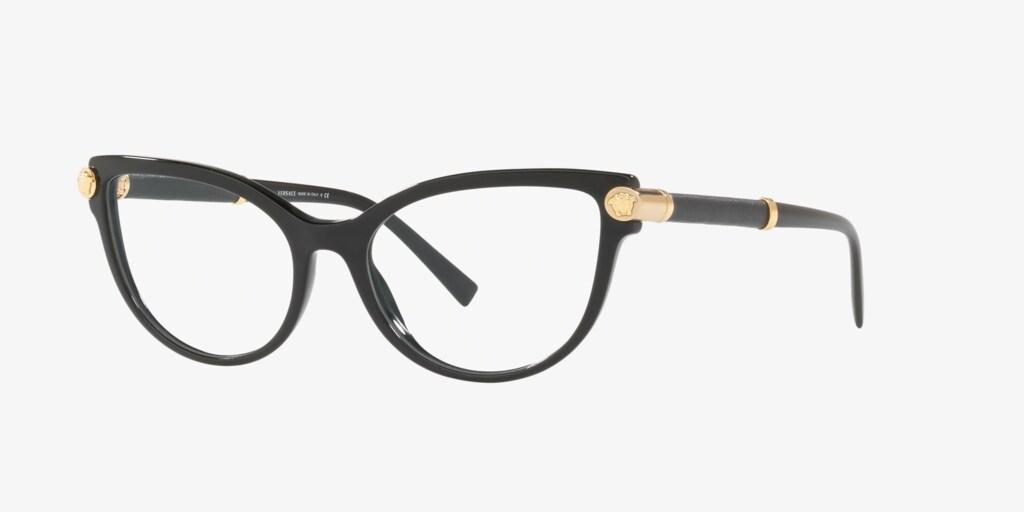 Versace VE3270Q V-ROCK Black Eyeglasses