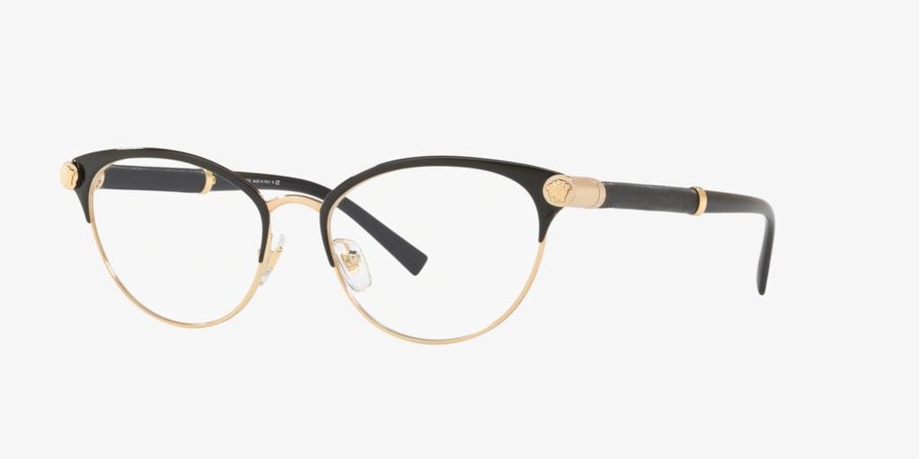 Versace VE1259Q V-ROCK Black/Gold Eyeglasses