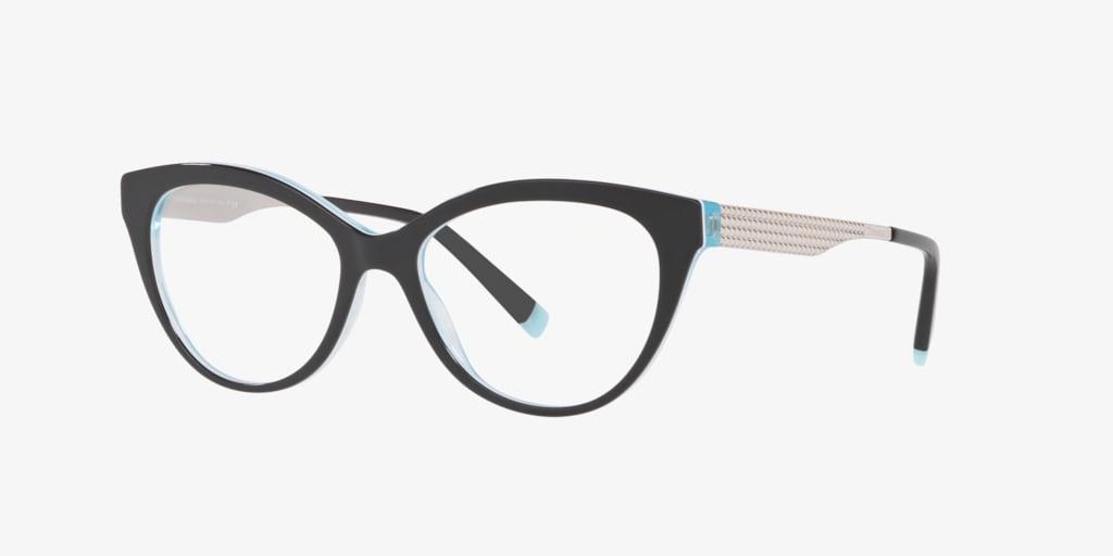Tiffany TF2180 Black On Crystal Tiffany Blue Eyeglasses