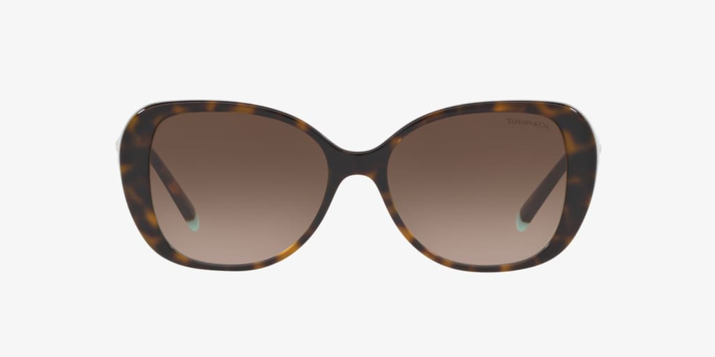 Tiffany TF4156 55 Havana On Tiffany Blue Sunglasses