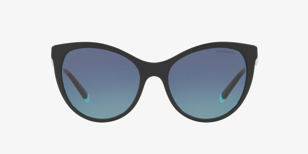 Tiffany TF4159 55 Black On Crystal Tiffany Blue Sunglasses