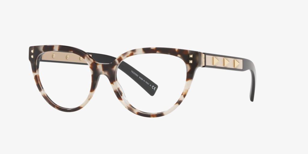 Valentino VA3034 Havana Brown Beige Eyeglasses