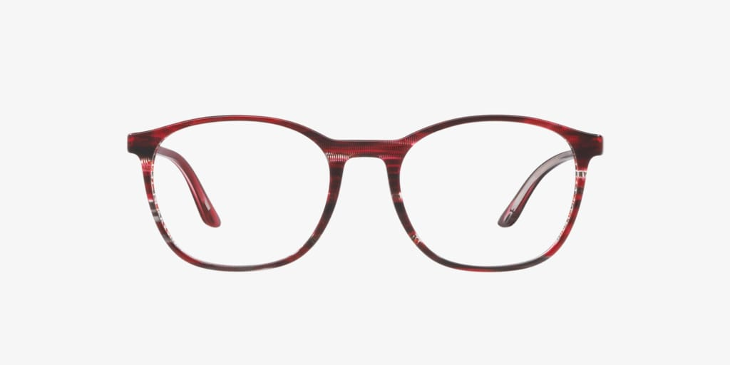 Starck Eyes SH3045 Stripped Black Red Pontille Eyeglasses