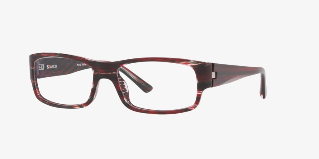 Starck Eyes SH3052 Stripped Black Red Pontille Eyeglasses