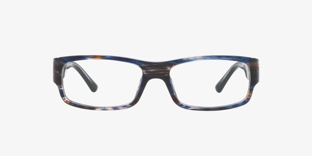 Starck Eyes SH3052 Stripped Blue Brown Pontille Eyeglasses