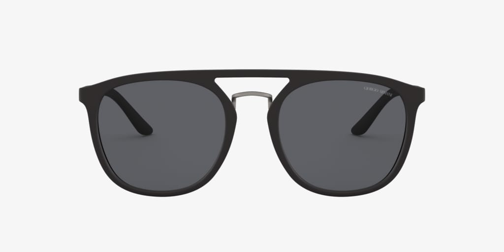 Giorgio Armani AR8118 53 Matte Black Sunglasses