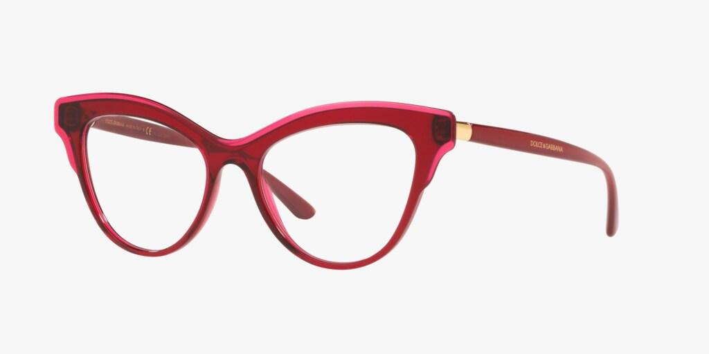 Dolce & Gabbana DG3313 Transparent Bordeaux Eyeglasses