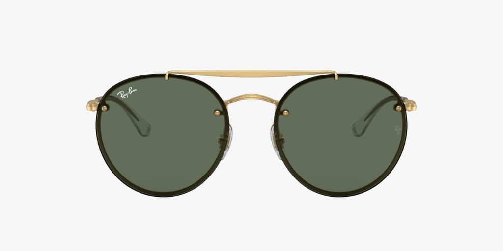 Ray-Ban RB3614N 54 BLAZE ROUND DOUBLEBRIDGE Gold Sunglasses