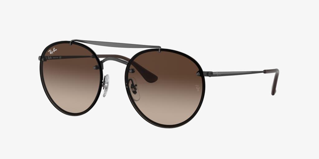 Ray-Ban RB3614N 54 BLAZE ROUND DOUBLEBRIDGE Gunmetal Sunglasses
