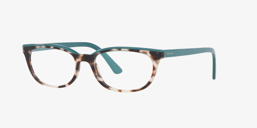 Prada PR 13VV CATWALK Spotted Brown Opal/Green Eyeglasses