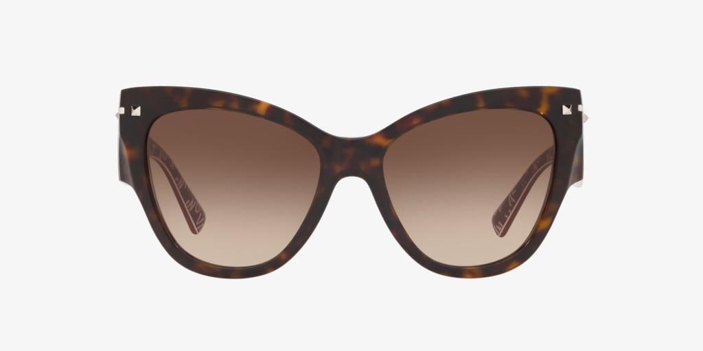 Valentino VA4028 55 Havana Sunglasses