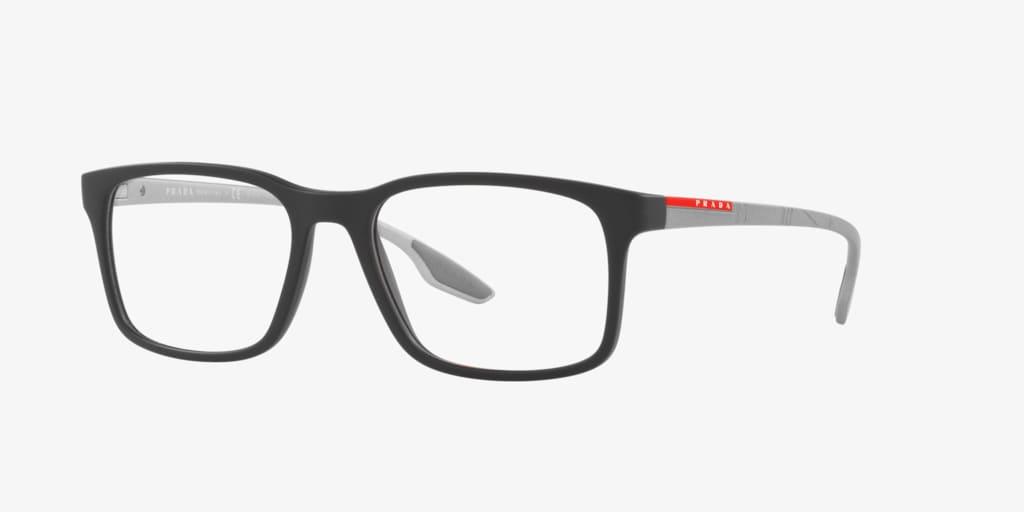 Prada Linea Rossa PS 01LV LIFESTYLE Black Rubber Eyeglasses