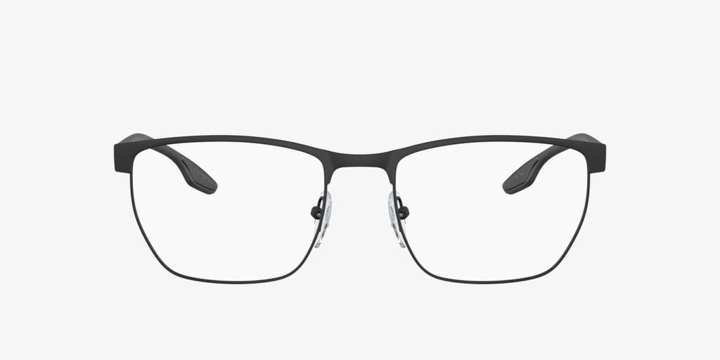 Prada Linea Rossa PS 50LV LIFESTYLE Black Rubber Eyeglasses