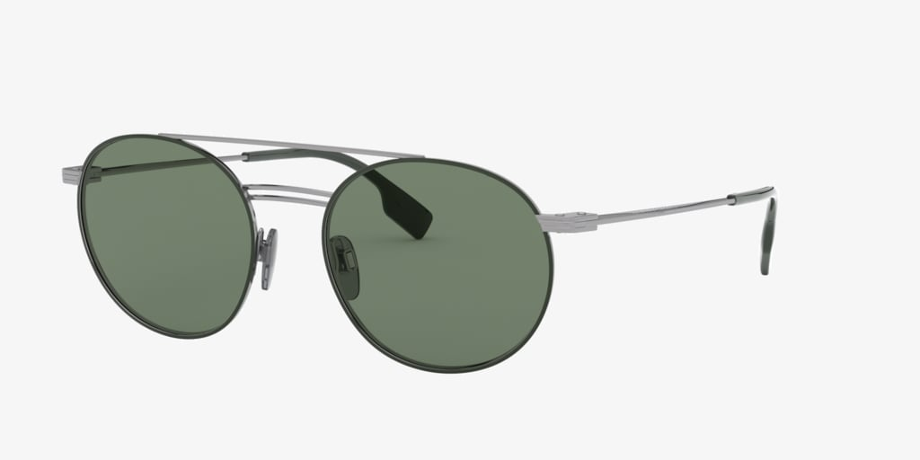 Burberry BE3109 53 Gunmetal/Matte Green Sunglasses